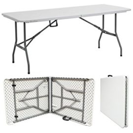 Rectangular Folding Table 6'x30″ Seats 6 – White